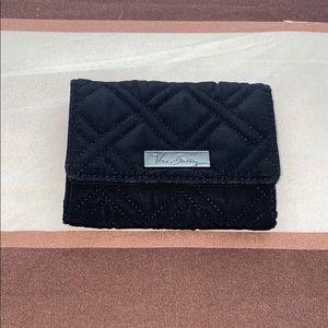 Vera Bradley RFID Riley Compact Black Wallet